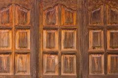 Tajlandzki stary drewniany okno w tajlandzkim domu Obraz Stock