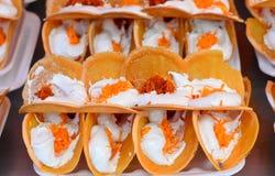 Tajlandzki Stylowy Chrupiący tarta, Khan Beaung Tajlandzki zdjęcia stock