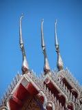 Tajlandzki stylowy drewniany dach Fotografia Stock