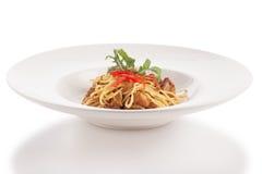 Tajlandzki stylowy fuzja spaghetti Fotografia Stock