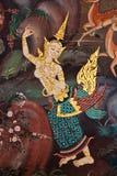 Tajlandzki stylowy malowidło ścienne obraz stock