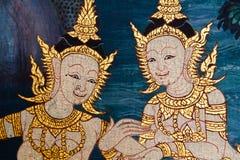 Tajlandzki stylowy malowidło ścienne fotografia royalty free