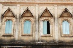 Tajlandzki stylowy okno Buddyjski sanktuarium Obraz Stock
