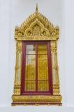 Tajlandzki stylowy okno przy Szmaragdową Buddha świątynią Fotografia Royalty Free