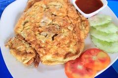 Tajlandzki stylowy omelette Zdjęcie Royalty Free