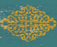 Tajlandzki stylowy sztuka wzór na zieleni Obraz Royalty Free