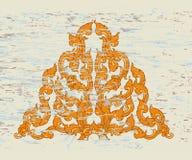 Tajlandzki stylowy trójgraniasty sztuka wzór Zdjęcia Royalty Free