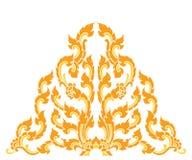 Tajlandzki stylowy trójgraniasty sztuka wzór Zdjęcia Stock