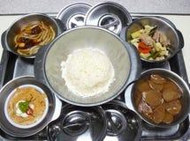 Tajlandzki szpitalny jedzenie set obraz royalty free