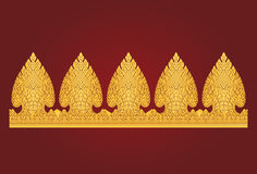 Tajlandzki sztuka internu wzór Fotografia Stock