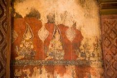 Tajlandzki sztuki tło stary zdjęcie royalty free