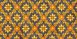 Tajlandzki sztuki tkaniny wzór Zdjęcie Stock