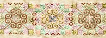 Tajlandzki sztuki tkaniny wzór Fotografia Royalty Free