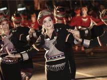 Tajlandzki tancerz w Canddle festiwalu Obrazy Royalty Free