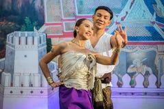 Tajlandzki taniec w Songkran festiwalu fotografia stock