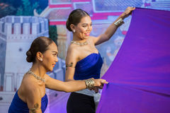 Tajlandzki taniec w Songkran festiwalu obraz royalty free