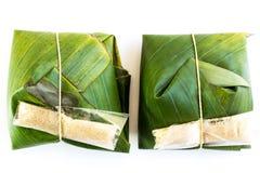 Tajlandzki tradycyjny deserowy pakunek Fotografia Royalty Free