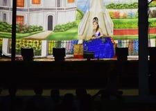 Tajlandzki tradycyjny dramatyczny występ Zdjęcie Stock