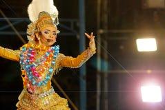 Tajlandzki tradycyjny dramatyczny występ Fotografia Stock