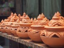 Tajlandzki tradycyjny gliniany garncarstwo Zdjęcie Royalty Free
