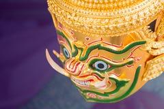 Tajlandzki tradycyjny Khon dancingowy występ fotografia stock