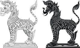 Tajlandzki tradycyjny obraz, tatuaż ilustracja wektor