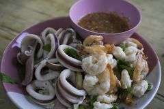 Tajlandzki tradycyjny owoce morza Zdjęcie Stock