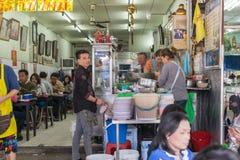 Tajlandzki uliczny jedzenie, kluski Fotografia Royalty Free