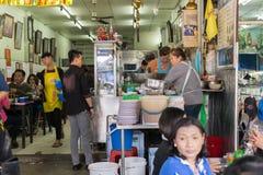 Tajlandzki uliczny jedzenie, kluski Obrazy Royalty Free