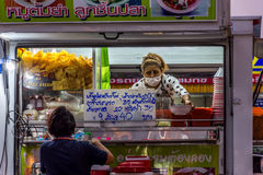 Tajlandzki uliczny jedzenie, kluski Zdjęcie Royalty Free