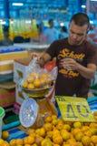 Tajlandzki uliczny jedzenie, pomarańcze Zdjęcia Stock