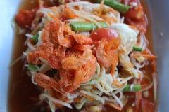 tajlandzki wyśmienicie karmowy somtum Zdjęcie Stock