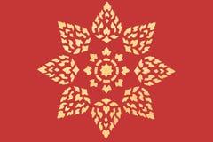 tajlandzki wzoru złoty styl Obrazy Stock