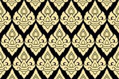 tajlandzki wzoru złoty styl Fotografia Stock