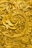 Tajlandzki złoto wzór handcraft tradycyjną kultury sztukę piękna Zdjęcie Royalty Free