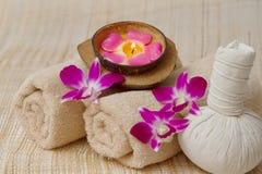 Tajlandzki zdrój i masaż, zdrowy i piękny Obrazy Royalty Free