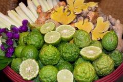 Tajlandzki zdroju ziele - bergamotowy turmeric cytryny trawy amarant Fotografia Royalty Free