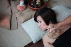 Tajlandzki zielarski kompres fotografia royalty free