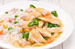 Tajlandzki Zielony curry'ego naczynie Obraz Stock