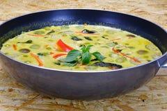Tajlandzki Zielony curry z kurczaka naczyniem Zdjęcia Stock