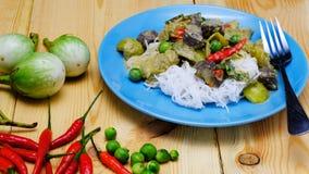 Tajlandzki Zielony curry z kurczaka naczyniem Obrazy Stock