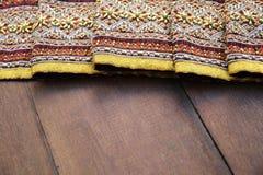 Tajlandzkich tkanina wzorów Tajlandzka grafika Zdjęcia Stock