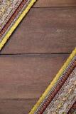 Tajlandzkich tkanina wzorów Tajlandzka grafika Obraz Stock