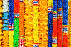 Tajlandzkie girlandy od kwiatów, tekstura Fotografia Stock