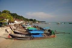 Tajlandzkie longtail łodzie Zdjęcia Royalty Free