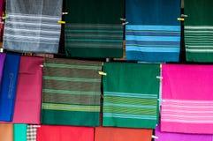 Tajlandzkie tkaniny Zdjęcia Royalty Free
