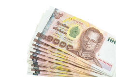 Tajlandzkiego bahta banknot obrazy stock