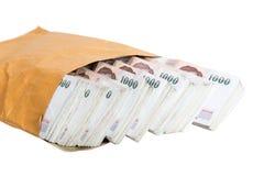 Tajlandzkiego bahta banknoty Zdjęcia Stock