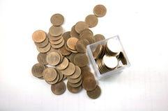 2 tajlandzkiego bahta moneta Zdjęcie Royalty Free