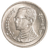 1 tajlandzkiego bahta moneta Obraz Stock